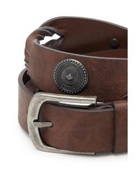 Forever 21 - Brown Concho Bead Braided Belt - Lyst
