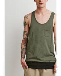 Forever 21 | Green Colorblocked Racerback Tank for Men | Lyst
