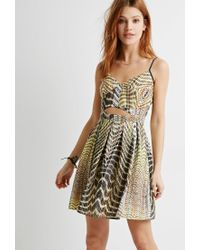 Forever 21 yellow cutout dress