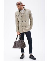 Forever 21 | Natural Double-breasted Trench Coat for Men | Lyst