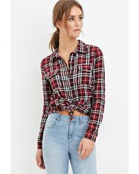 Forever 21 | Purple Tartan Plaid Flannel Shirt | Lyst