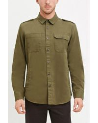 Forever 21   Natural Classic Cotton Shirt for Men   Lyst