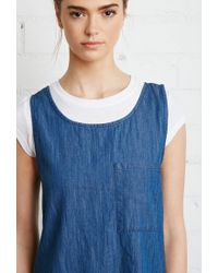 Forever 21 - Blue Zippered-back Denim Dress - Lyst