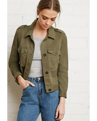 Forever 21 - Green Boxy Utility Jacket - Lyst