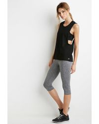 Forever 21 - Black Active Twisted Open-back Muscle Tee - Lyst