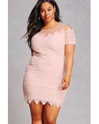 Forever 21 Soieblu Plus Size Dress in Pink - Lyst