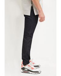 Forever 21 | Blue Drawstring Denim Joggers for Men | Lyst