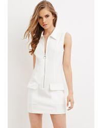 Forever 21 | White Collared Shift Dress | Lyst