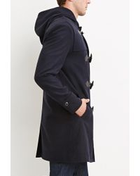 Forever 21 | Blue Toggle-front Hooded Coat for Men | Lyst