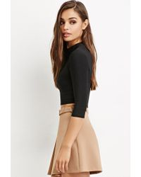 Forever 21 - Black Cutout-back Crop Top - Lyst