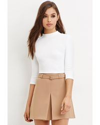 Forever 21 | White Cutout-back Crop Top | Lyst