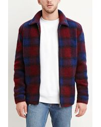 Forever 21   Purple Tartan Plaid Wool-blend Jacket for Men   Lyst