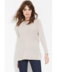 Forever 21 | Brown Ribbed-trim Dolman Sweater | Lyst