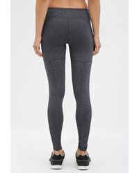 Forever 21 | Gray Active Heathered Leggings | Lyst