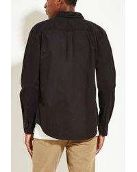 Forever 21   Black Cotton Flap-pocket Shirt for Men   Lyst