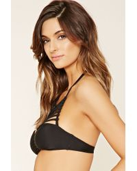 Forever 21 - Black Caged High-neck Bikini Top - Lyst