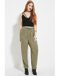 Forever 21 | Green Plus Size Drawstring Pants | Lyst