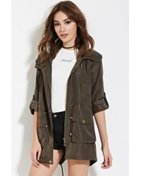 Forever 21 | Green Snap-button Utility Jacket | Lyst