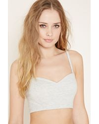 Forever 21 | White Ladder-back Cami Crop Top | Lyst