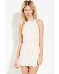 Forever 21   Natural Floral-embroidered Cami Dress   Lyst