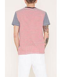 Forever 21 - Red Striped Pocket Tee for Men - Lyst