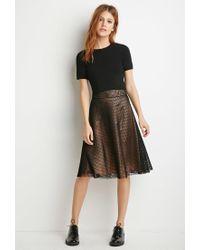 Forever 21   Black Contemporary Mesh Overlay A-line Skirt   Lyst