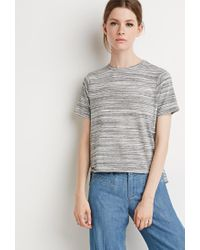 Forever 21 | Gray Contemporary Space Dye Tee | Lyst