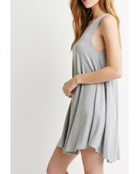Forever 21 - Gray Jersey Trapeze Dress - Lyst