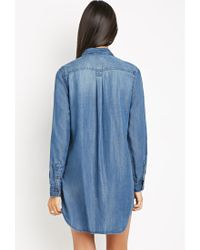 Forever 21 - Blue Contemporary Shirt Dress - Lyst