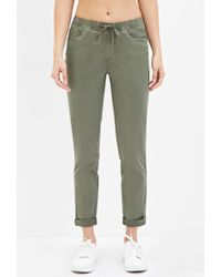 Forever 21 - Green Cuffed Drawstring Pants - Lyst
