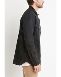 Forever 21 - Black Utility Pocket Shirt for Men - Lyst