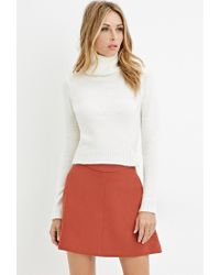 Forever 21 - Natural Contemporary Textured Turtleneck Sweater - Lyst
