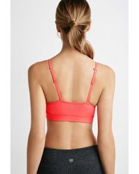 Forever 21 - Pink Low Impact - Crisscross Sports Bra - Lyst