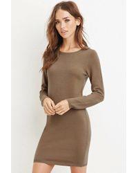 Forever 21 | Natural Knit Jumper Dress | Lyst