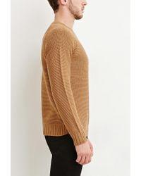 Forever 21 | Brown Textured Raglan Jumper for Men | Lyst