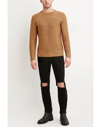 Forever 21 - Brown Textured Raglan Jumper for Men - Lyst