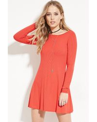 Forever 21 - Pink Tie-back Mini Dress - Lyst