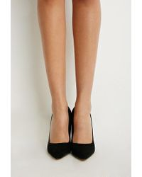 Forever 21 - Black Pointed Faux Suede Pumps - Lyst