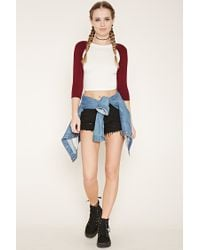 Forever 21 - Multicolor Cropped Baseball Tee - Lyst