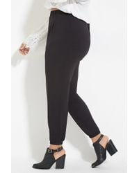 Forever 21 - Black Plus Size Joggers - Lyst