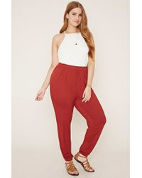 Forever 21   Red Plus Size Joggers   Lyst