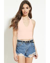 Forever 21 | Pink Classic Halter Top | Lyst