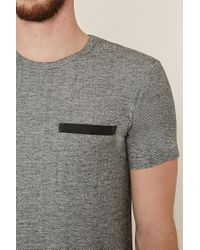 Forever 21 - Gray Marled Contrast-pocket Tee for Men - Lyst