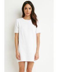 Forever 21 - White Checker-patterned Shift Dresss - Lyst