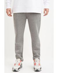 Forever 21 | Gray Drawstring Textured Knit Joggers for Men | Lyst