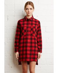 Forever 21 | Red Tartan Plaid Flannel Dress | Lyst