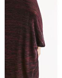 Forever 21 - Purple Marled Knit Dolman Cardigan - Lyst