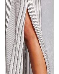 Forever 21 - White Striped Maxi Dress - Lyst