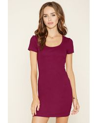 Forever 21   Red Micro-ribbed Knit Dress   Lyst