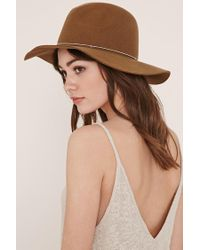 Forever 21 | Green Metal-band Wool Fedora | Lyst